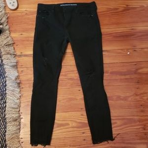 Black distressed skinny Jean's article of society